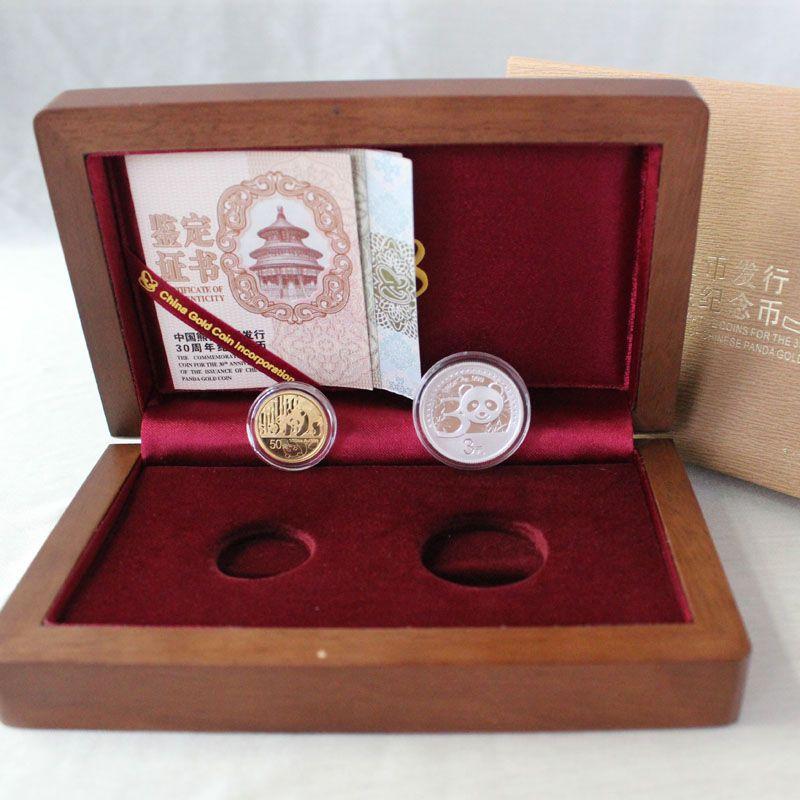 2012年熊猫金币发行30周年 熊猫加字 金银币套装