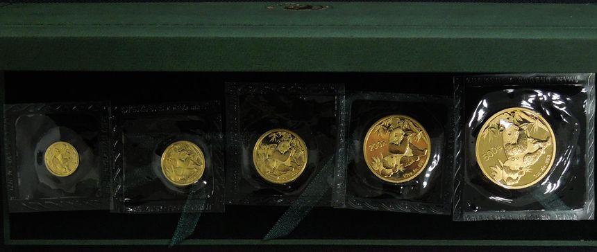 2007年熊猫金币 套装 金套猫