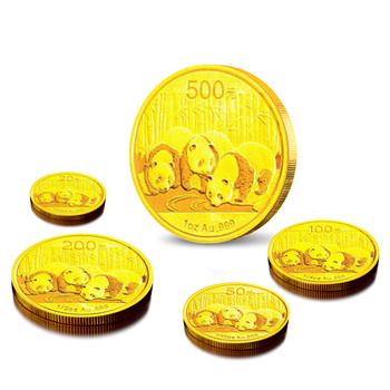 2013年熊猫金币 套装 金套猫