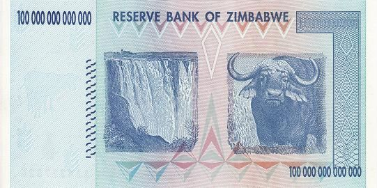 津巴布韦 100万亿元 2008