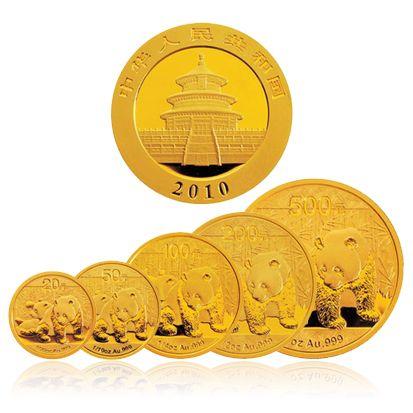 2010年熊猫金币 套装 金套猫