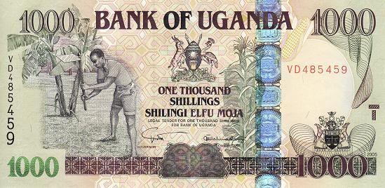 乌干达 1000先令 2005