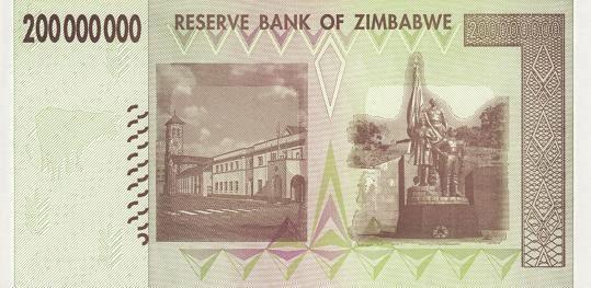 津巴布韦 2亿元 2008