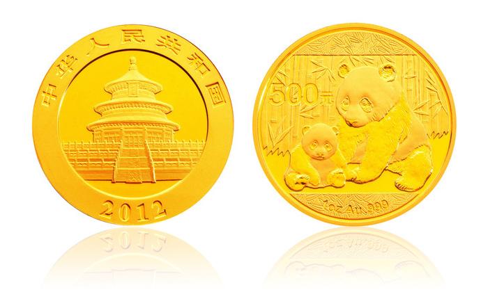 2012年熊猫金银币 1盎司 金币